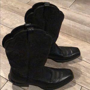Ariat Square Toe Black Boots Sz 8.5